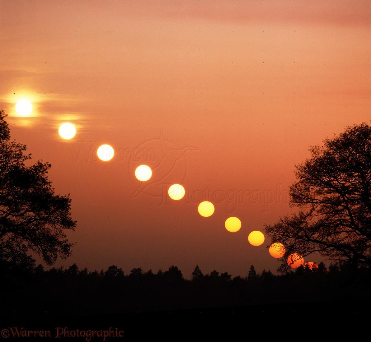 Setting Sun Multiple Exposure Photo Wp06588