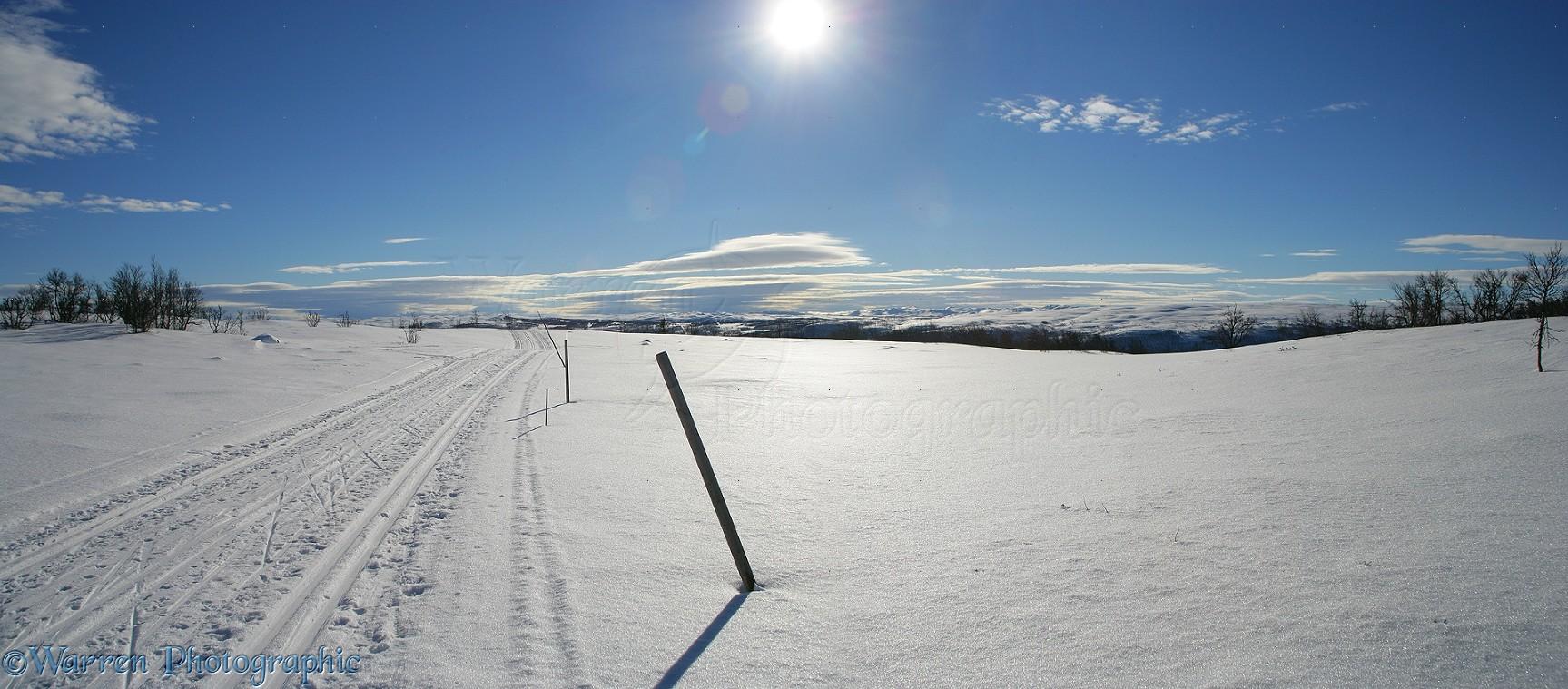 Snowy scene photo - WP11891