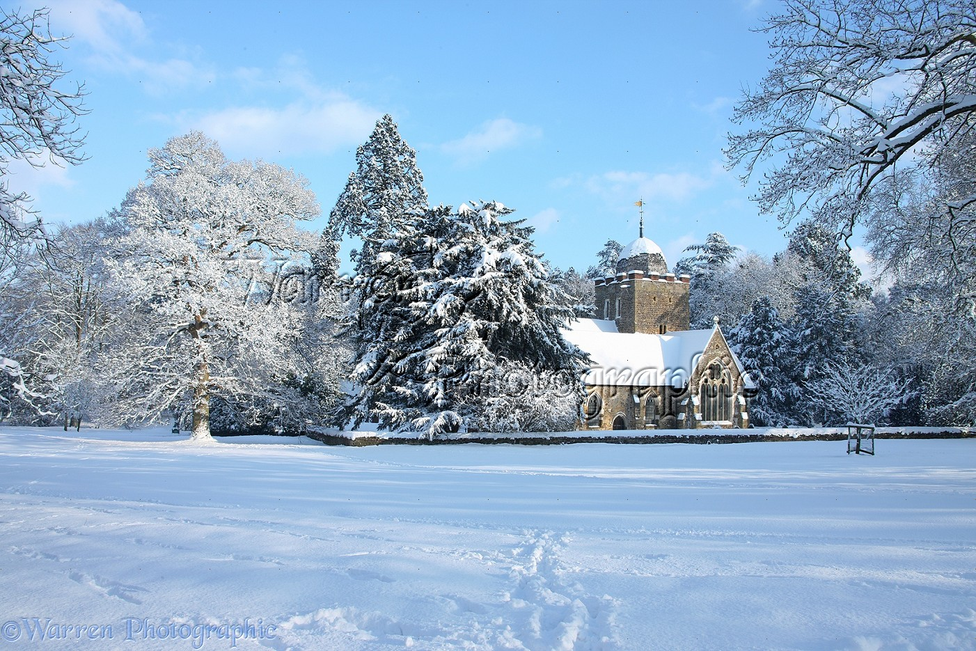 Church In Snow Albury saxon church with snow