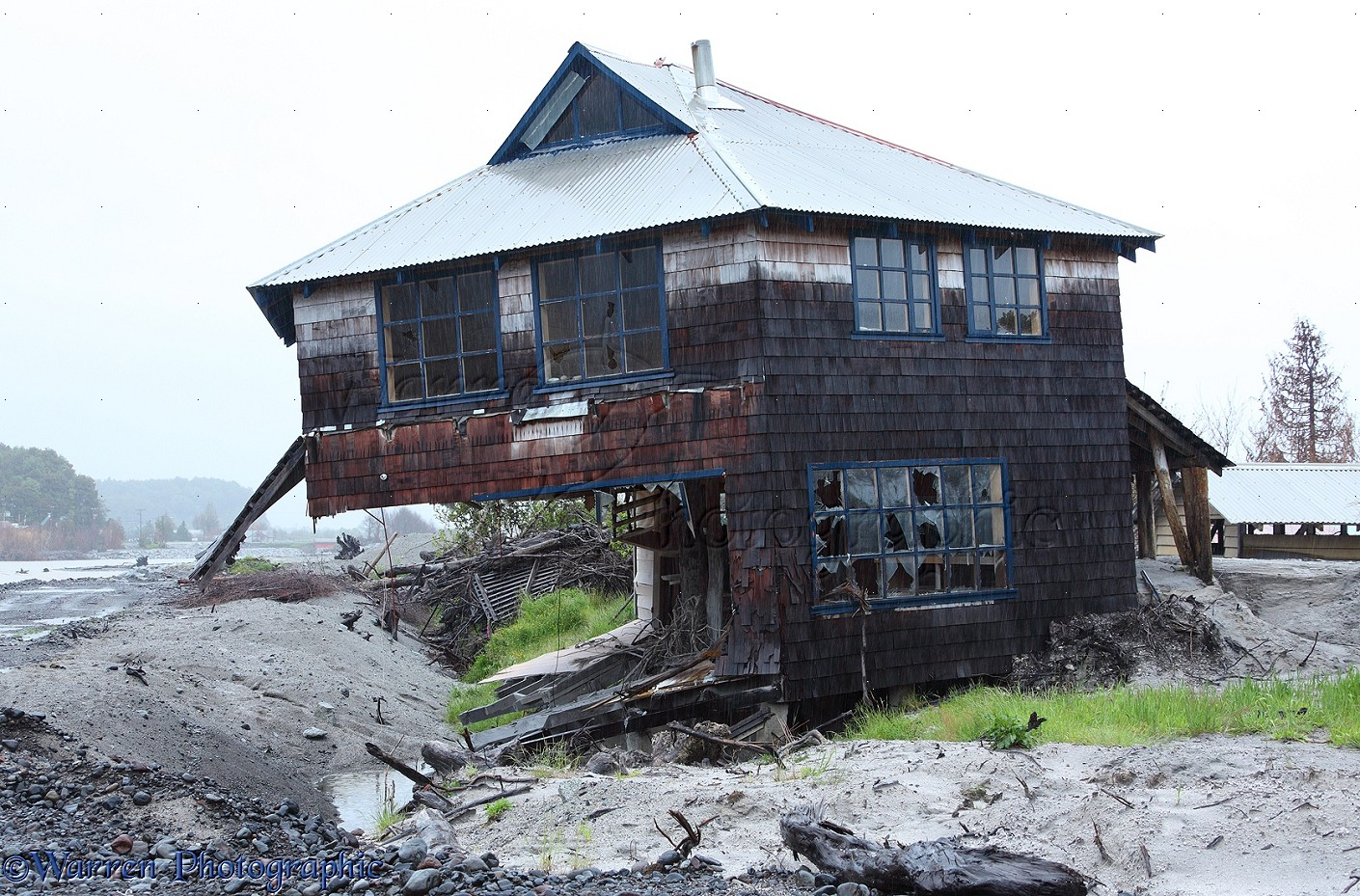 House Wrecked By Volcanic Ash Photo Wp27719