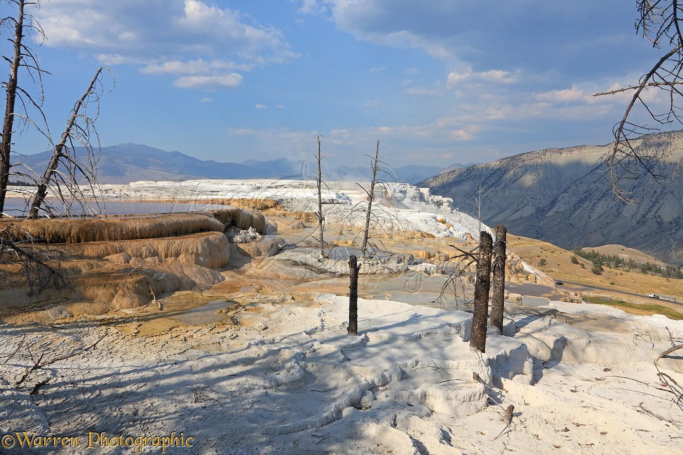 Travertine Limestone Terraces Photo Wp35785