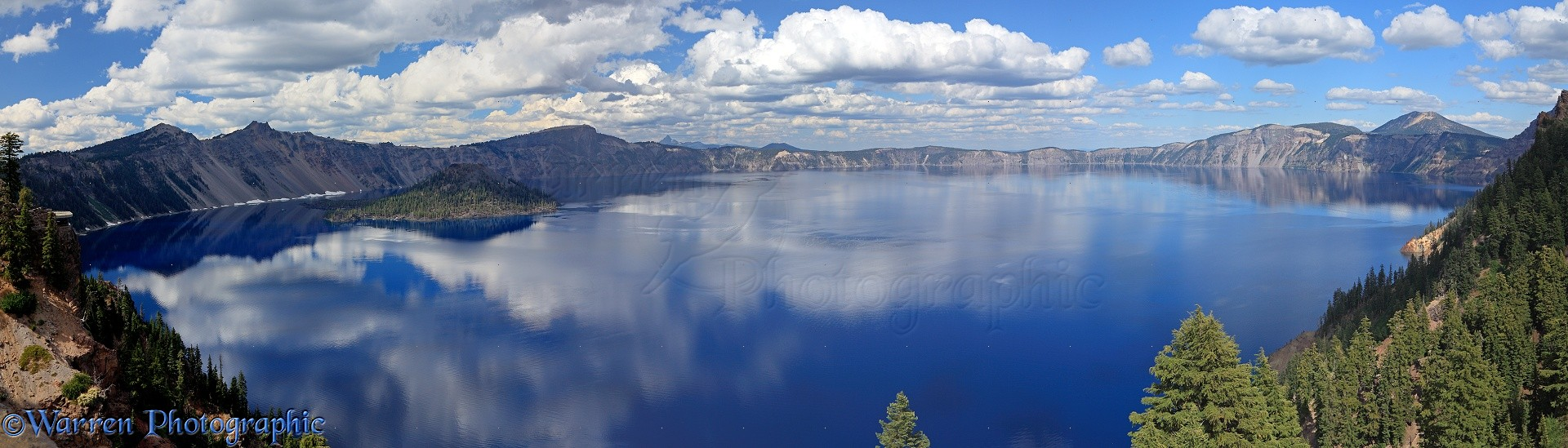 Crater Lake Panoramic View Photo Wp36612