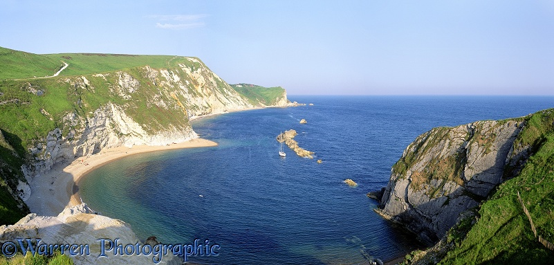 Man O'War bay view.  Dorset, England