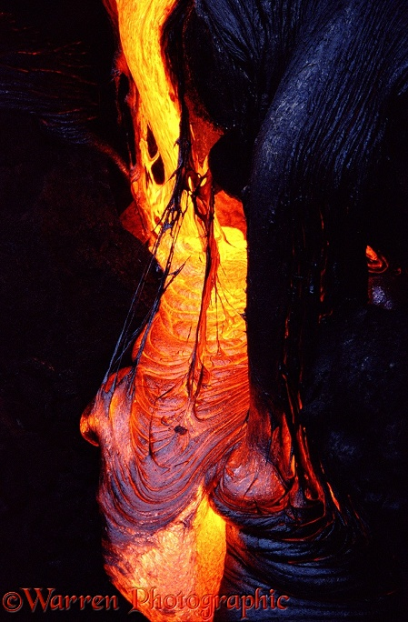 Molten Lava pouring.  Hawaii