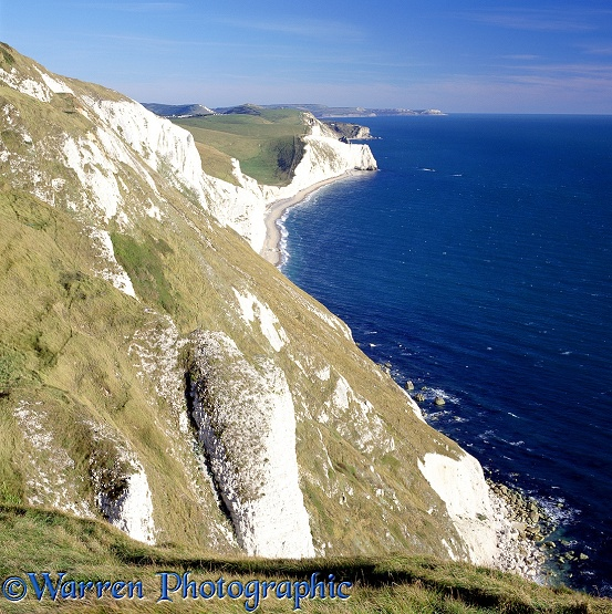 Bats Head, viewed from Whitenothe.  Dorset, England