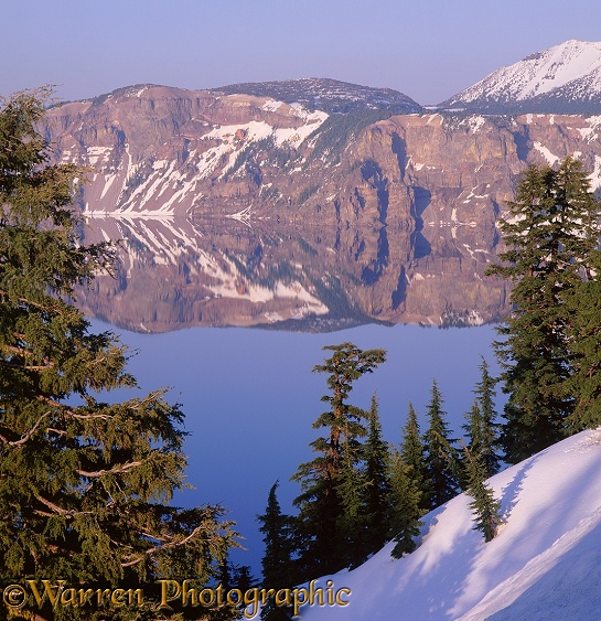 Crater Lake reflections.  Oregon, USA
