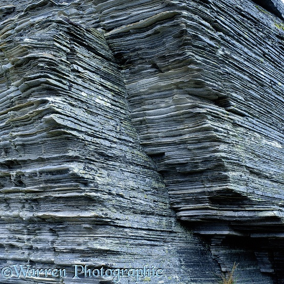 Layered rocks in Norway.  Norway