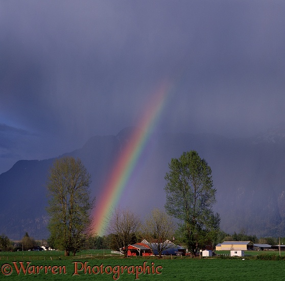 Rainbow in Fraser Valley.  British Columbia, Canada