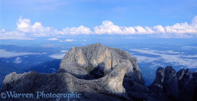 Granite monolith at Mt. Kinabalu.  Borneo