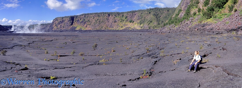 Kilauea crater.  Hawaii