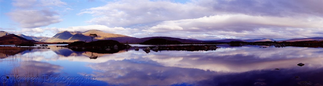 Loch with reflections.  Western Highlands, Scotland
