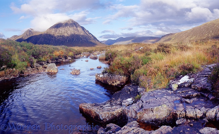 Moorland stream.  Western Highlands, Scotland