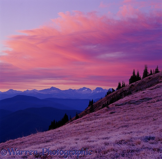 Alpine scene at sunrise.  British Columbia, Canada