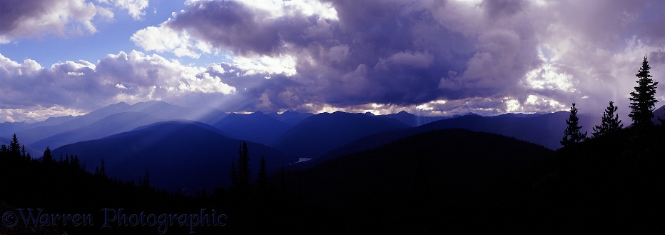 Alpine view with clouds.  British Columbia, Canada