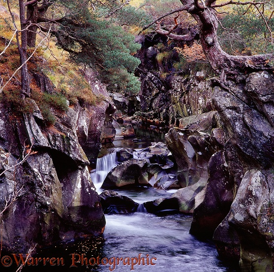 River in rocky gorge.  Glen Nevis, Scotland