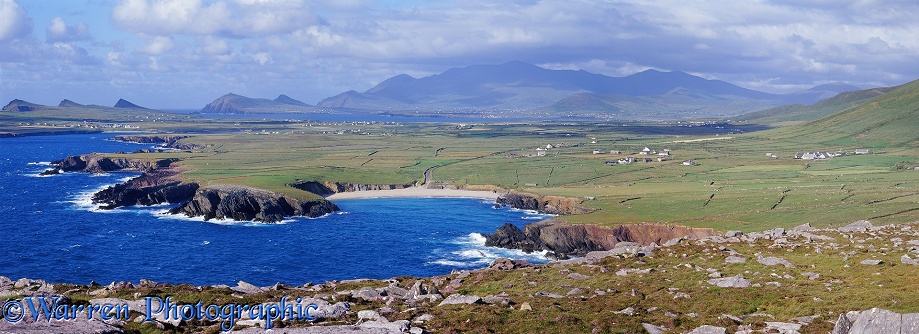 Irish coastal panoramic view.  Dingle Peninsula, Ireland