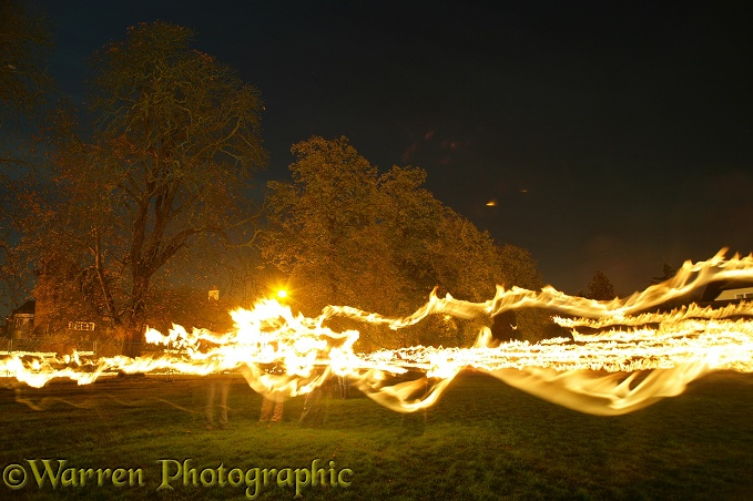 Torch-light procession.  Surrey, England
