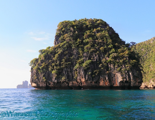 Limestone islands and cliffs.  Koh Phi Phi, Thailand