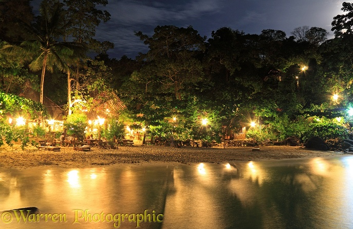 Beach resort at night.  Koh Phi Phi, Thailand