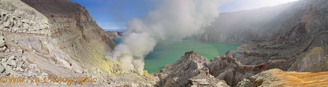 Sulphur mine at Kawah Ijen.  Java, Indonesia