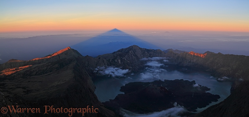 Rinjani summit at sunrise.  Lombok, Indonesia