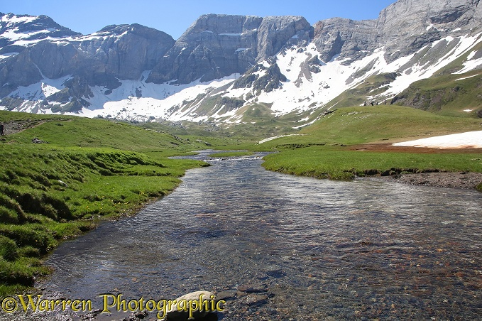 Heas Valley in summer, French Pyrenees.  France