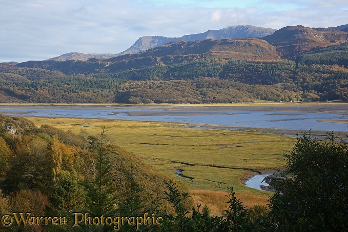 The Mawddach estuary, West Wales, in October