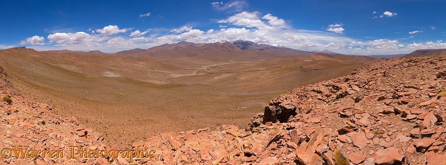 Rugged Bolivia landscape