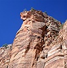 Sandstone cliffs at Zion Canyon