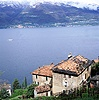 Lake and houses in Italy