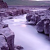 Rocky stream at sunrise