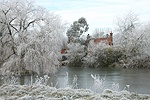 Ockley frosty winter scene