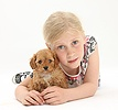 Girl with Cockapoo pup