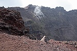 Vesuvius crater with steam vents