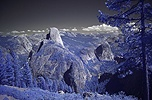 View of Half Dome in near infrared