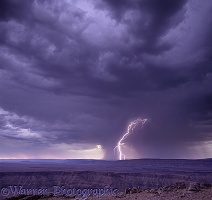 Fish River Canyon with lightning