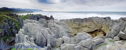 The Pancake Rocks panorama