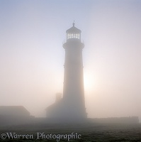 Old Lighthouse with misty atmosphere