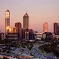Perth at sunset