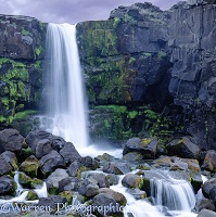 Small rocky waterfall in Iceland