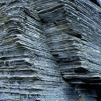 Layered rocks in Norway