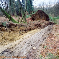 Landslide divide at Leith Hill