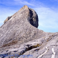 Granite monolith at Mt. Kinabalu
