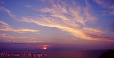 Lundy sunset