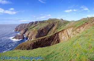 Granite cliffs on Lundy