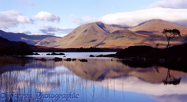 Loch with reflections