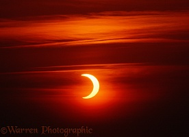 Annular solar eclipse. Scotland, 31 May 2003