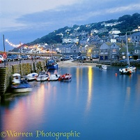Mousehole Harbour at dusk