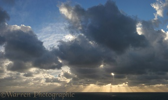 Clouds and sunbeams