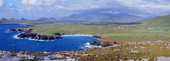 Irish coastal panoramic view